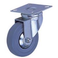 5寸灰胶扁轮平底活动(万向轮)