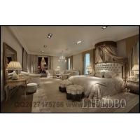新古典家具-卧室家具组合-双人床+床头柜+床尾櫈