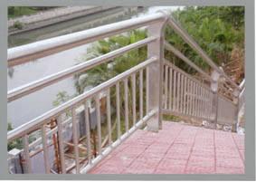 不锈钢楼梯栏杆价格_不锈钢户外楼梯扶手 - 大舜不锈钢 - 九正建材网