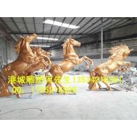 港城仿真动物玻璃钢马雕塑模型专家