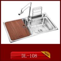 供应304材质整体拉伸一次成形家用厨房不锈钢水槽DL-108