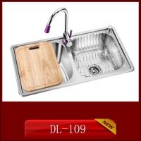 供应304材质整体拉伸一次成形家用厨房不锈钢水槽DL-109