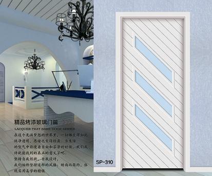 首天木门供应隔音性能好,环保简约SP-310白色烤漆门