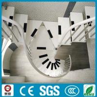 创意钢琴式碳钢旋转楼梯 别墅室内旋转楼梯