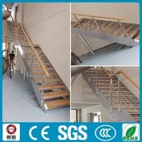 不锈钢滑梯搭配单跑直行楼梯 双钢板直行龙骨楼梯