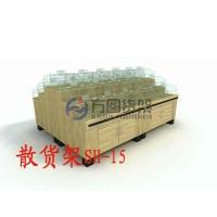 干果架 超市木制干果架 干果糖果架 生鲜木制货架