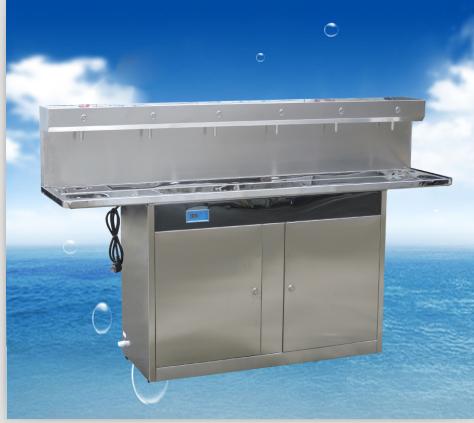 六龙头不锈钢节能饮水机( 学校公共饮水平台)