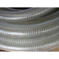 德州雨泽供应 聚氨酯PU风管木工吸尘管波纹钢丝伸缩管