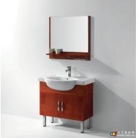 成都龙尔洁具精品橡木浴室柜