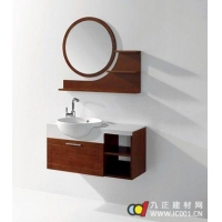 成都龙尔洁具精品悬挂式橡木浴室柜