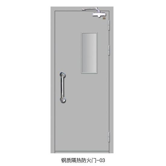 钢质隔热防火门-03 防火通道门带玻璃 成都防火门
