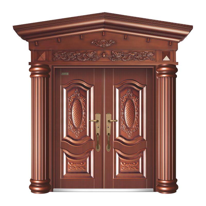 盛世风华(93号)超丁级-红铜 人字门头+罗马柱