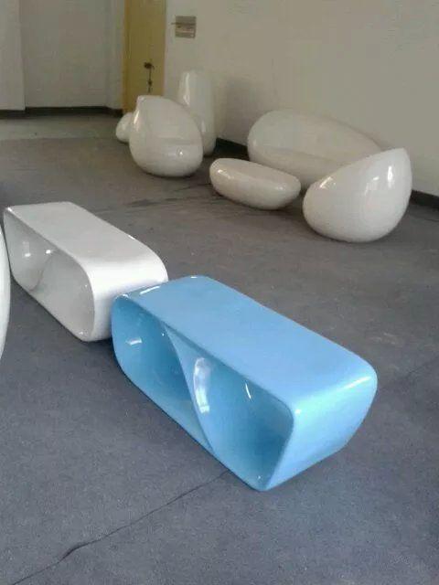提供玻璃钢休闲凳 时尚创意凳子 套装玻璃钢休闲椅子