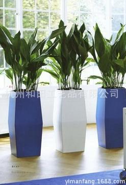 玻璃钢雕塑自动浇水花盆 自动吸水懒人花盆 植物个性创意盆器