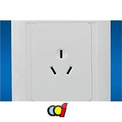 成都海新光电墙壁开关一联三极插座-01