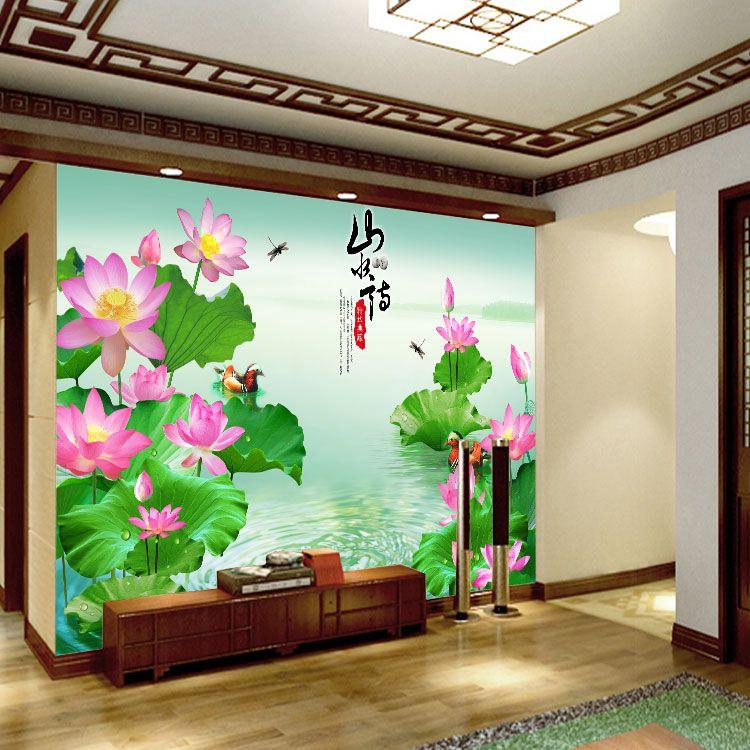 无缝墙布 墙纸 客厅电视背景墙 大型壁画 个性定制