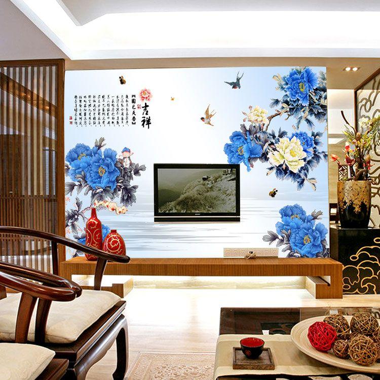 电视墙 墙壁-缝墙布墙纸客厅电视背景墙