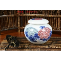 景德镇陶瓷罐子 一斤装陶瓷密封罐子 景德镇陶瓷罐子定做