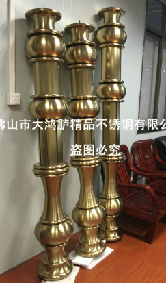 别墅装修豪华不锈钢欧式罗马柱