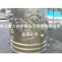 304不锈钢祥云大包柱 钛金拉丝无指加工处理