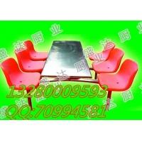 陕西省咸阳市学生食堂餐桌椅,盛达不锈钢餐桌椅
