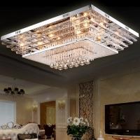 灯具客厅灯led现代简约创意艺术长方形大气吸顶灯卧室灯水晶灯