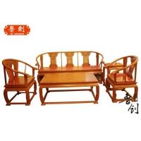 供应东阳市鲁创红木现代实木家具刺猬紫檀皇宫椅沙发
