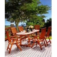 实木桌椅 酒店桌椅 户外家具-XD-A8030-棕色