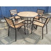 餐厅铸铝桌椅 户外铝木桌椅-XD-C8003