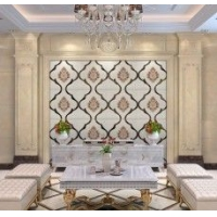 佛山莫尼卡SKY-1002刺绣镶嵌皮雕软包硬包艺术背景墙