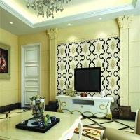 河北皮雕软包厂家莫尼卡SKY-1021刺绣拼镜硬包背景墙