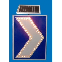 太阳能诱导标志牌 led弯道线性诱导标志 交通太阳能标志牌价