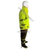 莱芜反光雨衣 荧光绿反光雨衣 交警执勤雨衣套装
