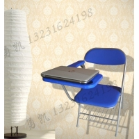 软垫折叠写字板培训椅 加大写字板培训椅带书网 新闻椅 记者椅
