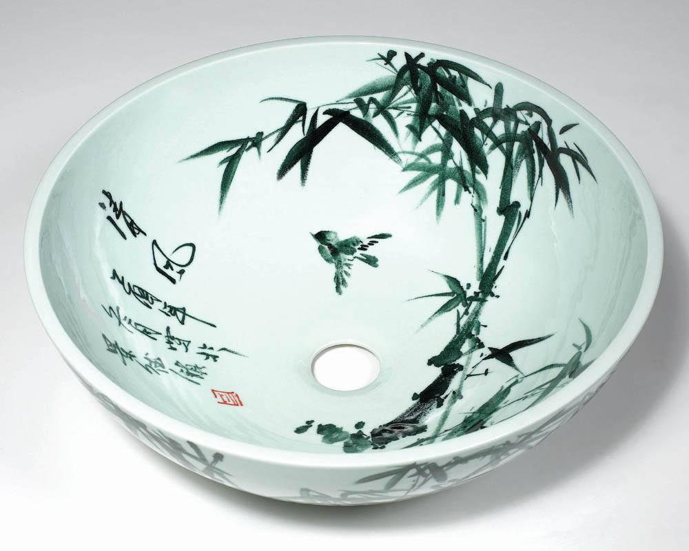 陶瓷洗脸盆手绘图案 - 产品库 - 手机九正建材网