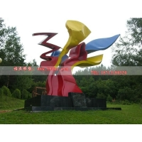 异形不锈钢雕塑 公园彩色抽象雕塑