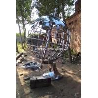 定制管状地球仪雕塑 河北不锈钢地球仪价格