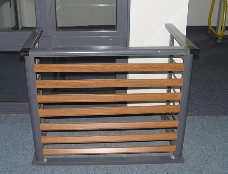 百叶窗空调护栏 锌钢空调护栏 锌合金空调百叶