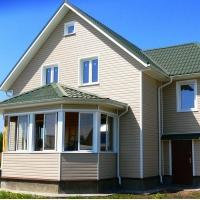 PVC挂板别墅排屋新型装饰旧房改造挂板