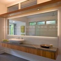 金吉祥 LED背光防雾浴室灯镜 方形壁挂式无框卫生间镜子 可