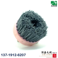 广州顶嘉供应120mm进口磨料丝端面刷 去毛刺毛刷