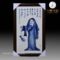 景德镇青花人物瓷片价格 工艺图片 青花人物瓷片定做批发