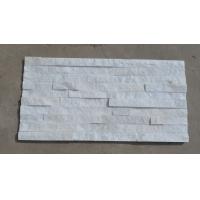 白色石英石文化石  15x60x1.5-2.5cm