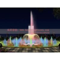 音乐程控喷泉效果图  水景喷泉图片  户外水池喷泉  假山喷
