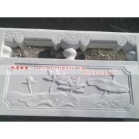 鸿景雕刻石雕栏板  植物荷花石雕栏板