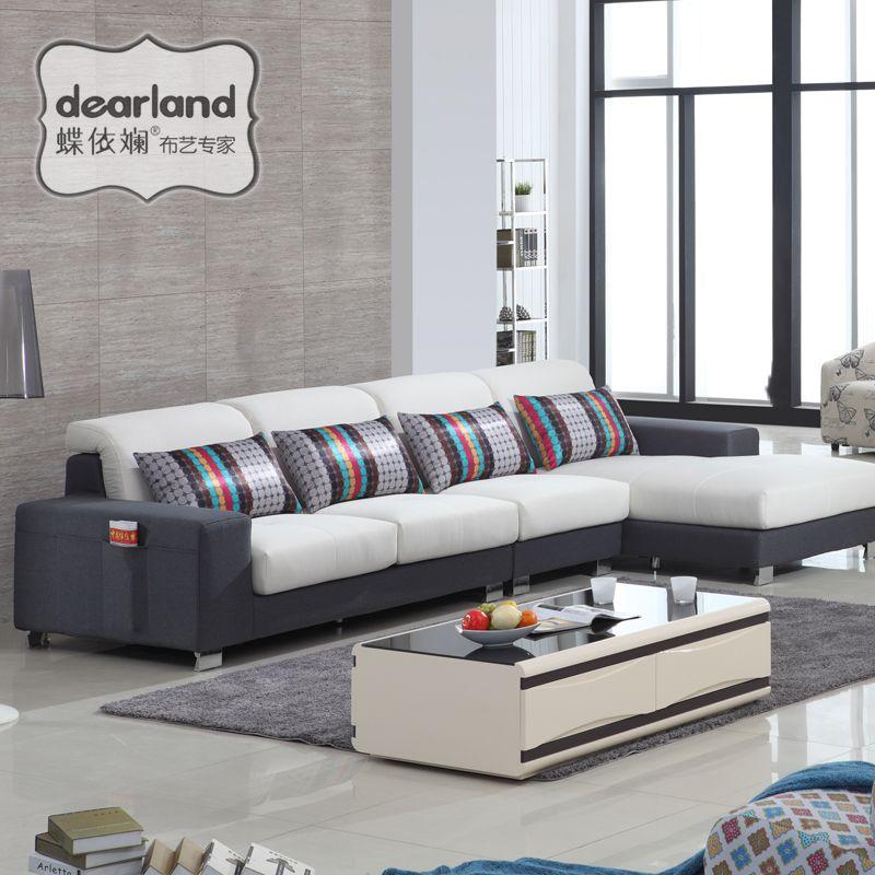 蝶依斓贵妃布艺沙发现代储物沙发广东高端品牌布艺沙发TM227图片