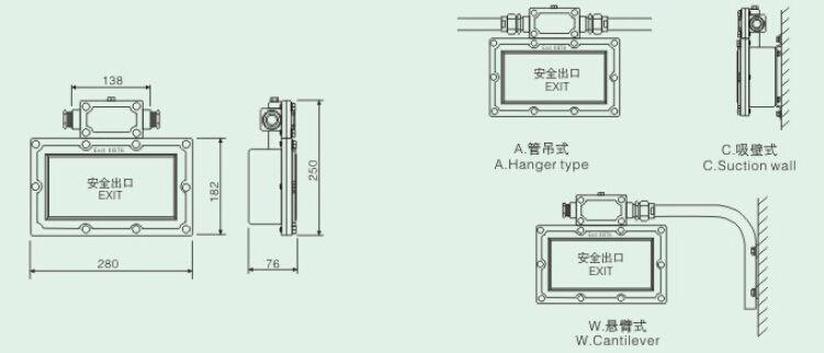 SBD3106防爆标志灯 防爆安全出口指示灯 SBD3106防爆标志灯 防爆安全出口指示灯 SBD3106防爆标志灯  防爆安全出口指示灯 SBD3106防爆标志灯产品特色: 灯具防爆型式为隔爆型,适用于气体爆炸危险场所照明使用。 外壳材料采用抗拉强度高的铝合金,且含铜量低,灯具外壳 表面聚酯粉末喷涂,具有良好的耐腐性能。 灯具整体式结构,内含免维护充电电池、逆变器等。正常使用时由控制装置自动控制,并能自动进行应急切换。 LED显示器,亮度高、功耗小、寿命长。 平面钢化玻璃透光板,多种引导标志图