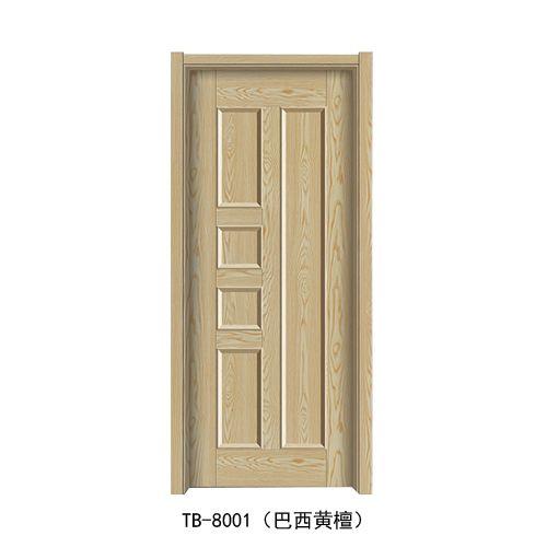 同邦门业-韩式拼接门系列TB-8001(巴西黄檀)