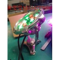 LED18W全不锈钢梅花水底灯全彩RGB512调光喷泉池