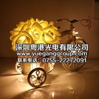 LED彩灯闪灯串灯 玫瑰花电池挂件灯